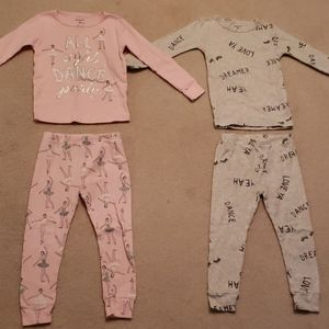 Carter's Toddler Girl 3T 4PC Pajama Set